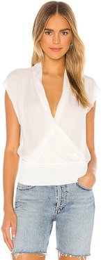 Draped Combo Top in Ivory. - size S (also in XS)