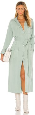 Bree Trench Dress in Mint. - size L (also in M, S)
