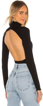 Margaux Turtleneck Top in Black. - size S (also in XS)