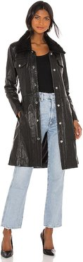 Thunderbird Shearling Coat in Black. - size L (also in S, XS)