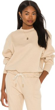 Edith Sweatshirt in Nude. - size L (also in M, S, XS)