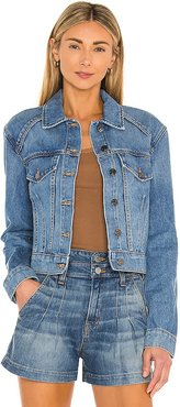 Dottie Strong Shoulder Jacket in Blue. - size L (also in M, S, XS)