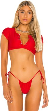 Indie Bikini Top in Red. - size S (also in XS)