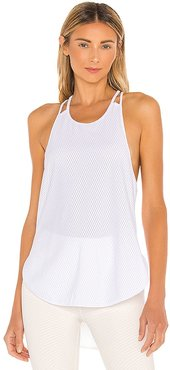 Bubble Mesh Tank in White. - size L (also in M, S, XS)