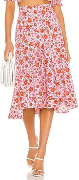 Ann St Skirt in Pink. - size L (also in M, S, XS)