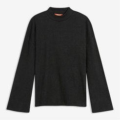 Mock Neck Tee, JF Black (Size S)