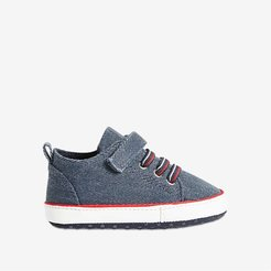 Baby Boys' Bungee-Lace Sneakers, Navy (Size 1)