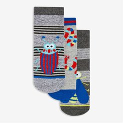 Baby Boys' 3 Pack Socks, Red (Size 12-24)