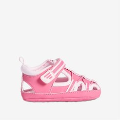 Baby Girls' Soft Sole Sandals, Bright Pink (Size 3)