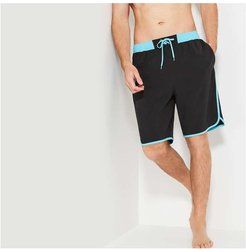 Board Shorts, Black (Size M)