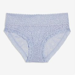 Lace Hipster, Blue (Size L)