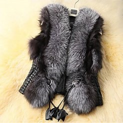 Vest Daily Winter Regular Coat Loose Warm Streetwear Sophisticated Jacket Sleeveless Solid Colored Pleated Gray / Going out / Plus Size