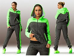 Tracksuit Sweatsuit Street Casual Winter Long Sleeve Quick Dry Breathable Fitness Gym Workout Running Jogging Sportswear Plus Size Pink Green Activewea