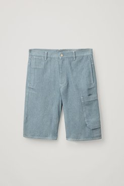 ORGANIC COTTON DENIM CARGO SHORTS