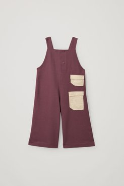 ORGANIC COTTON PATCH POCKET DETAIL DUNGAREES
