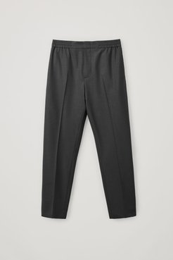 ELASTICATED TAILORED PANTS