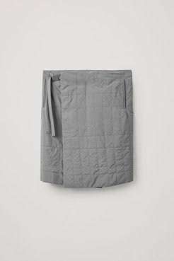 RECYCLED POLYAMIDE QUILTED KILT
