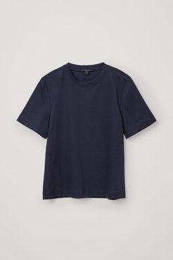 SLIGHTLY CROPPED JERSEY T-SHIRT