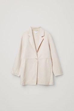 WOOL-MIX DECONSTRUCTED BLAZER-STYLE JACKET