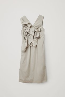 ORGANIC COTTON RUCHED PANEL DRESS