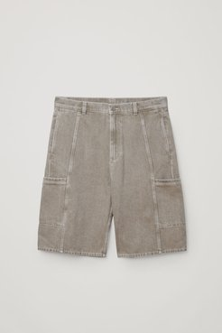 RELAXED ORGANIC COTTON DENIM SHORTS