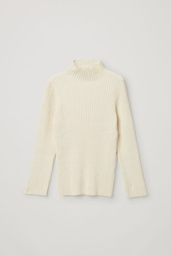 ORGANIC COTTON RIBBED CHENILLE SWEATER