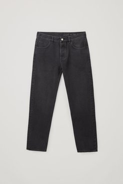 RECYCLED COTTON TAPERED JEANS