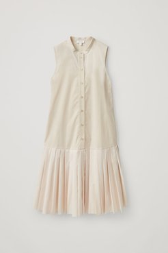 ORGANIC COTTON PLEATED PANEL DRESS