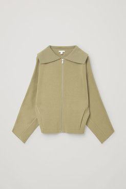 KNITTED WOOL-COTTON JACKET