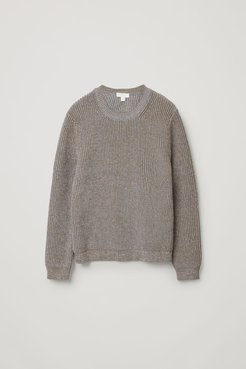 KNITTED RECYCLED POLYESTER-MIX JUMPER