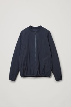 RECYCLED POLYAMIDE REVERSIBLE DOWN PADDED ZIP-UP BOMBER