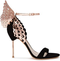 Evangeline 100 winged suede pumps