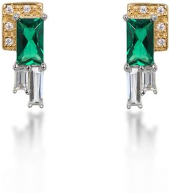 Audrey rhodium and gold-plated earrings