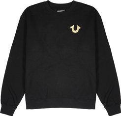 Black cotton-blend sweatshirt