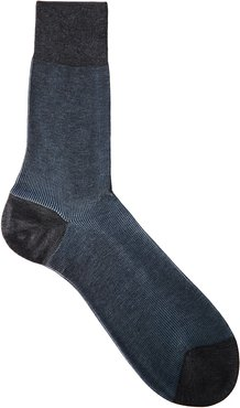 Shadow d'Ecosse cotton-blend socks