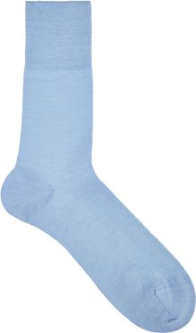 Airport blue wool-blend socks