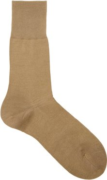 Tiago brown cotton-blend socks