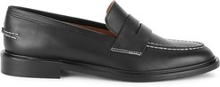 Monti black leather loafers