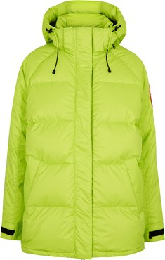 Approach bright green quilted shell jacket
