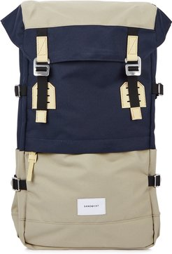 Harald navy and stone canvas backpack