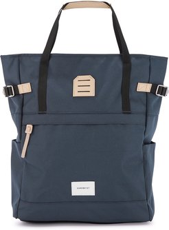 Roger navy canvas tote bag