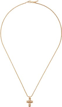24kt gold-plated cross pendant necklace