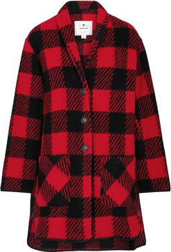Checked knitted jacket