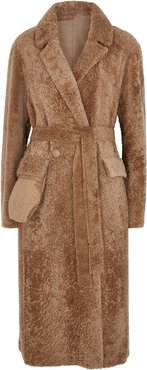 Diana caramel reversible shearling coat