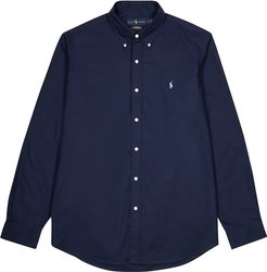 Navy classic cotton-poplin shirt