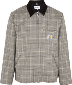 Detroit brown checked wool-blend jacket