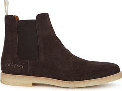 Brown brushed suede Chelsea boots