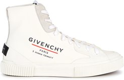 Tennis off-white coated canvas hi-top sneakers