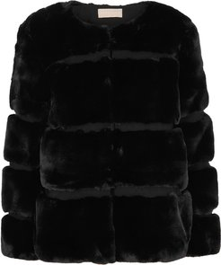 Ariel black faux fur coat