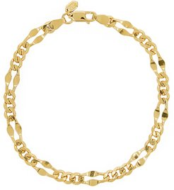 Dean large gold-plated chain bracelet
